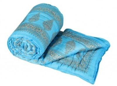 Bigonlineshop Floral Single Quilts & Comforters Light Blue