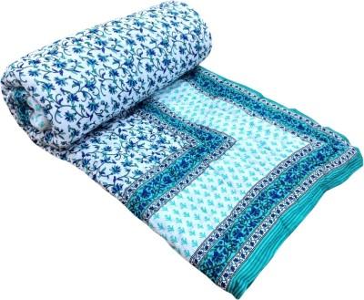 Shop Rajasthan Floral Double Quilts & Comforters Multicolor