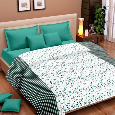 Cortina Floral Single Dohar Green