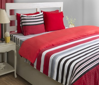 House This Striped Double Dohar Red