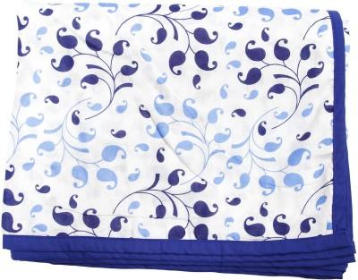 CocoBee Printed Queen Dohar Blue