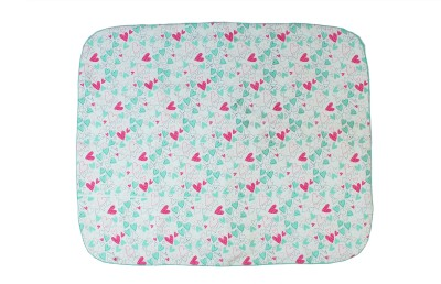 Blooming Buds Abstract Crib Swadding Baby Blanket White