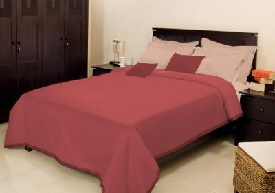 Bombay Dyeing Plain Single Blanket Maroon