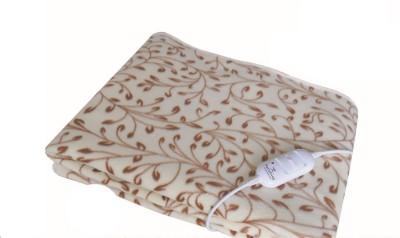 Valtellina Floral Single Electric Blanket Beige, Brown