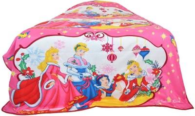 Indian Rack Cartoon Single Dohar, Quilts & Comforters, Blanket White, Pink