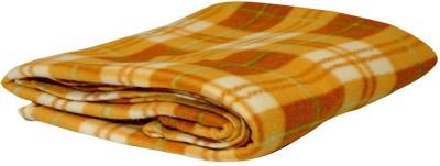 Sheetal Checkered Single Blanket Yellow