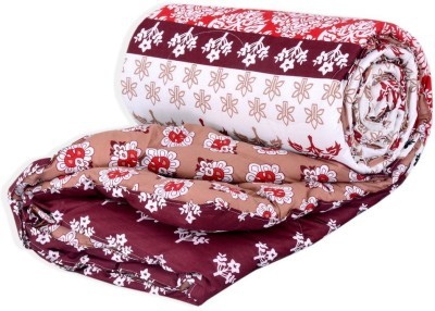 Salona Bichona Abstract Double Quilts & Comforters White