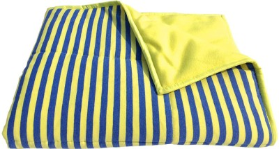 Wobbly Walk Striped Single Blanket Blue And Yellow Strips