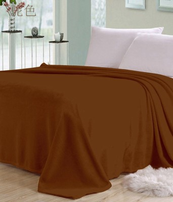 Viktoria Homes Plain Double Blanket Brown