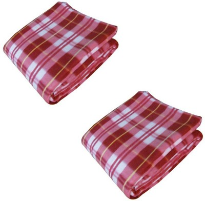 Shiv Fabs Checkered Double Blanket Multicolor
