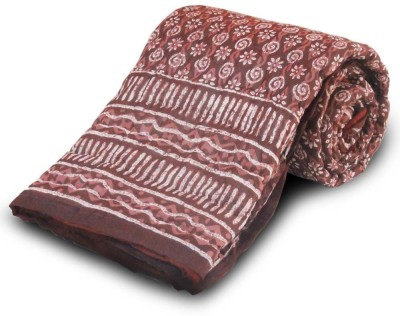 Little India Floral Single Quilts & Comforters Maroon