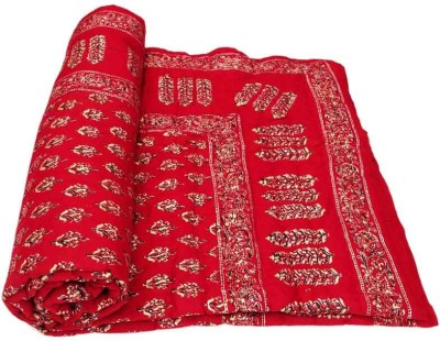 Ooltah Chashma Floral Single Quilts & Comforters Red