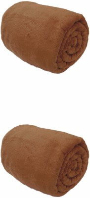 Saksham Plain Single Blanket Brown