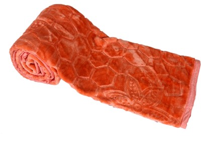 IndiStar Floral Single Blanket Orange