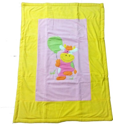 Baby Basics Cartoon Single Blanket Yellow