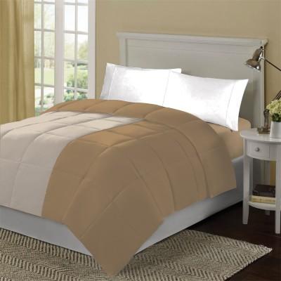 KIAANA USA Plain Single Quilts & Comforters Camel, Ivory