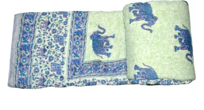 Raj Amer Craft Animal Double Quilts & Comforters Blue