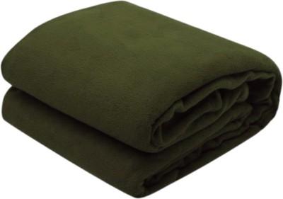 Excel Bazaar Plain Double Blanket Green