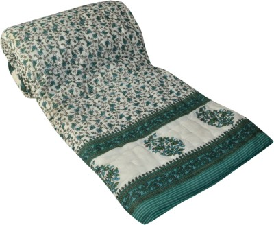Raj Amer Craft Floral Double Quilts & Comforters Green