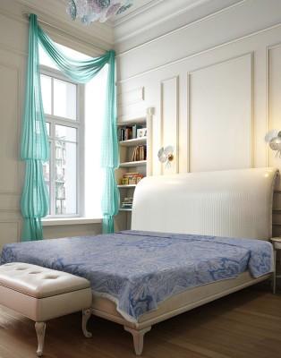 Needlecrest Floral Queen Quilts & Comforters Blue, White