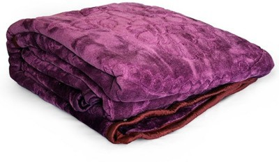 Kalash Floral Double Top Sheet Purple