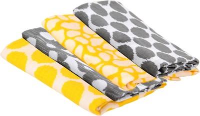 Bacati Polka Single Blanket Yellow