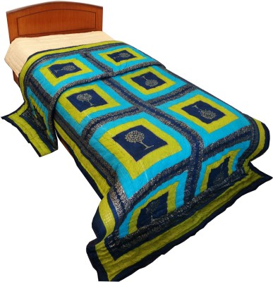 Rajasthan Crafts Checkered Single Quilts & Comforters Blue