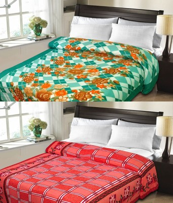 Candy House Checkered Double Blanket Red