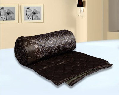Urban Style Floral Double Quilts & Comforters Brown