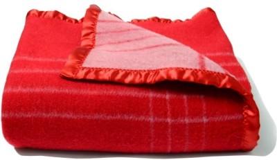 Loomkart Plain Single Blanket Red