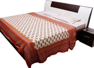 Jaipur Raga Floral Double Quilts & Comforters Orange
