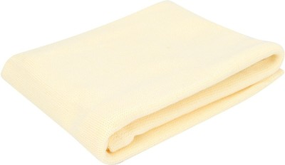 Lollipop Lane Plain Crib Blanket Yellow