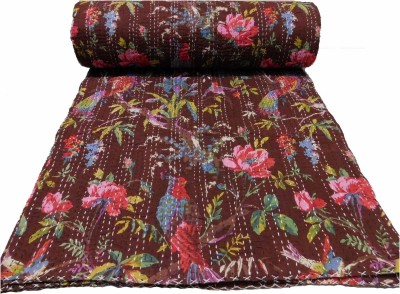 HAG Art and Craft Floral Double Quilts & Comforters Multicolor