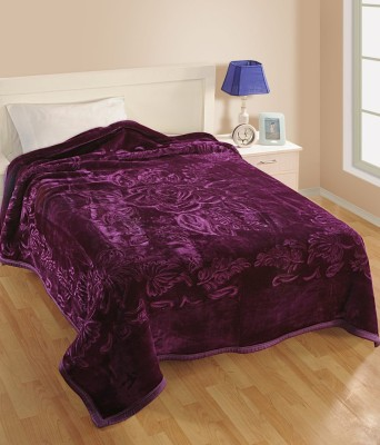 Bigshoponline Plain Double Blanket Purple