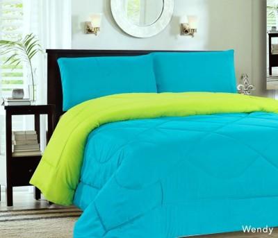Comfylite Plain Single Duvet Light green and Light Blue