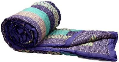 KRG ENTERPRISES Floral Double Quilts & Comforters Purple and Green