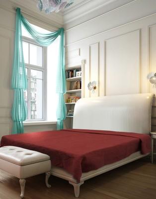 Needlecrest Plain Queen Quilts & Comforters Maroon