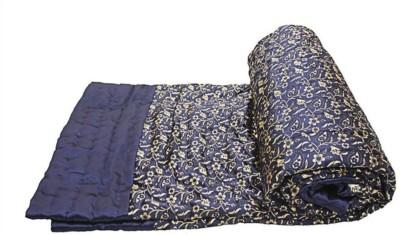 Shopper Space Floral Double Quilts & Comforters Blue