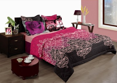 Raymond Home Floral Double Quilts & Comforters Pink