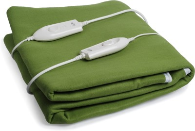Expressions Plain Double Electric Blanket Green