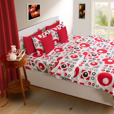 House This Polka Double Dohar Red, White