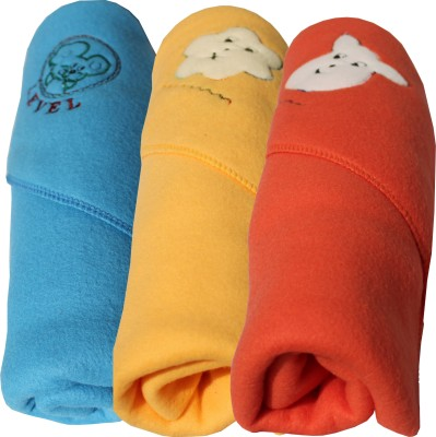My NewBorn Cartoon Single Blanket Red, Beige, Light Blue
