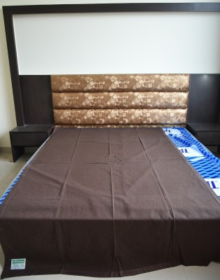 DHANI Plain Single Blanket Brown