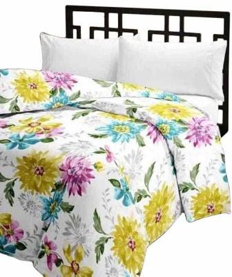 Renown Floral Single Blanket White