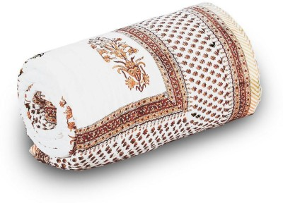 Tradition India Damask Single Quilts & Comforters White and Brown