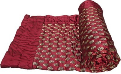 DEVANK Floral Double Quilts & Comforters Red