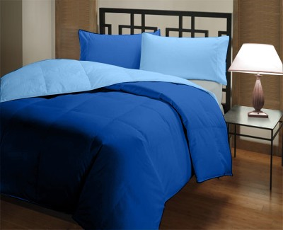 Comfylite Plain Single Duvet Dark Blue, Light Blue