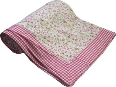 Elan Dreams Floral Single Dohar Bright Pink Green