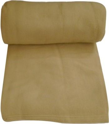 Saksham Plain Double Blanket Camel