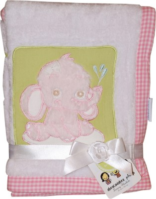 Abracadabra Plush Luxury Blanket Elle (Pink, White)